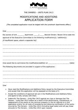 Modification and additions application form