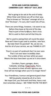 Peter & Clinton poem